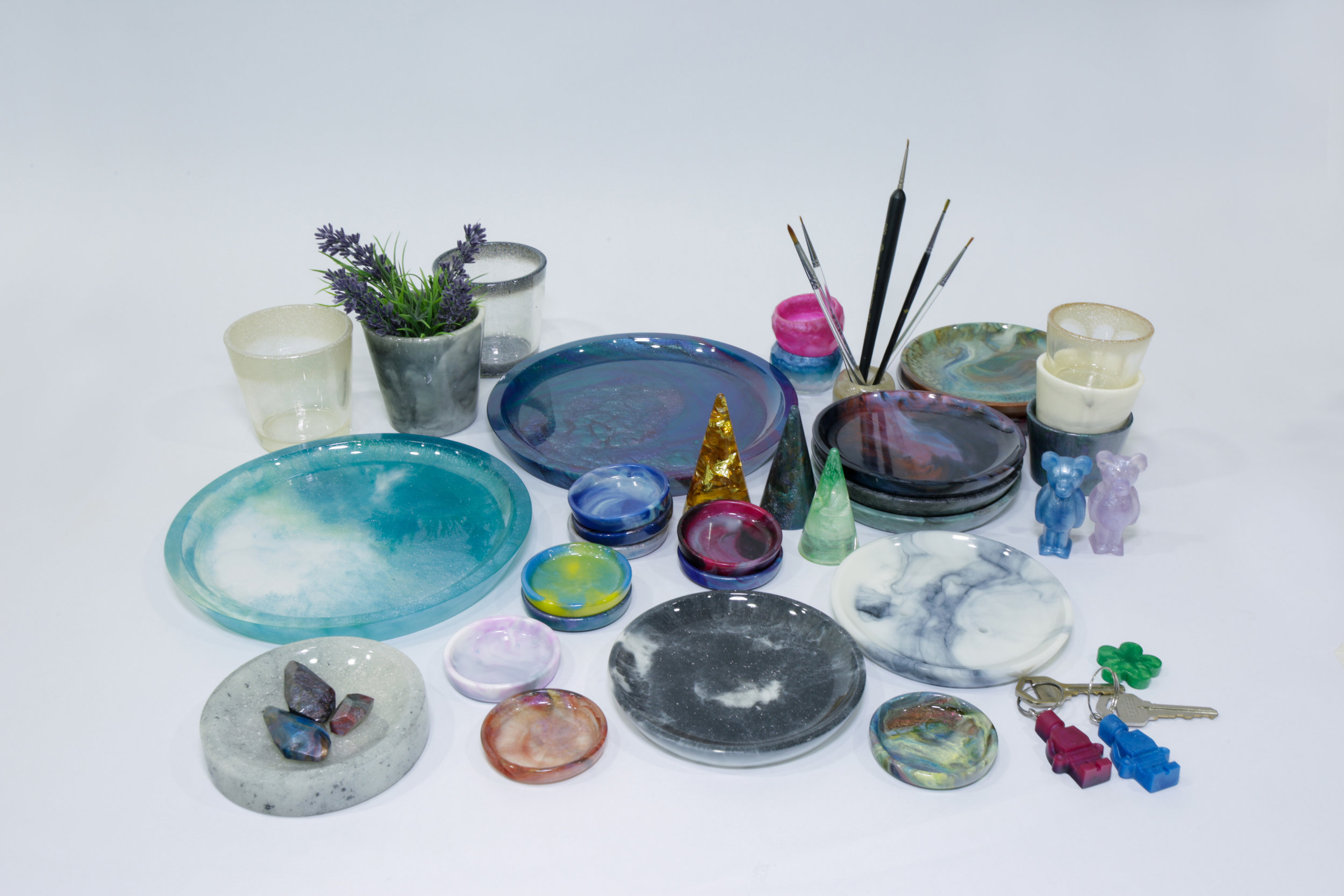Resin Products including Plates, Bowls, etc