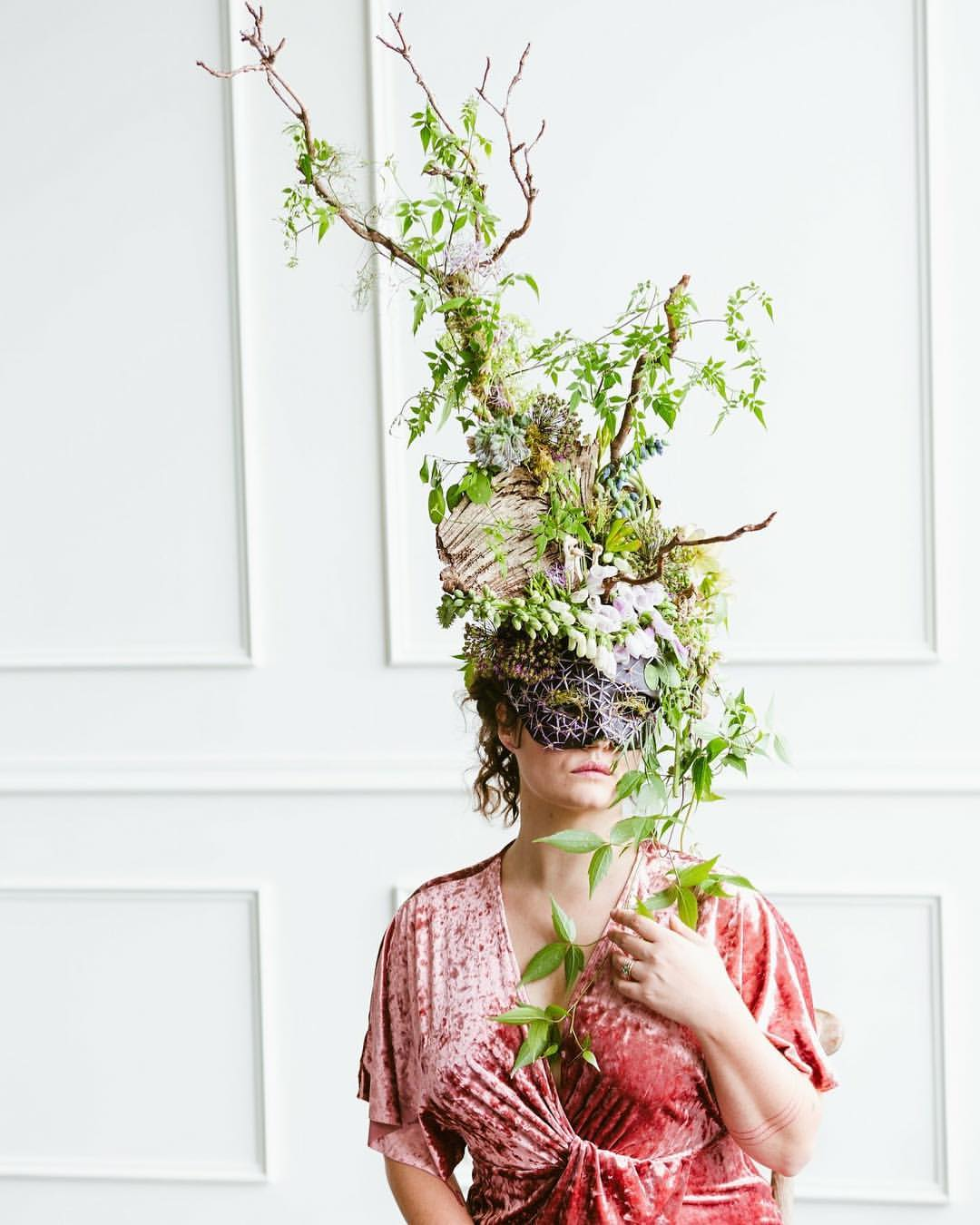 Wearable botanicals from Francoise's recent shoot.