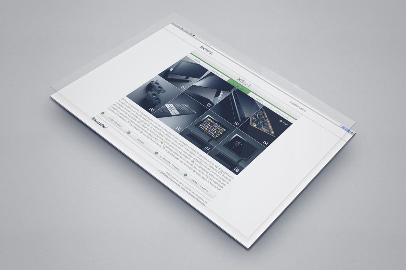XEL-1 Website Product page