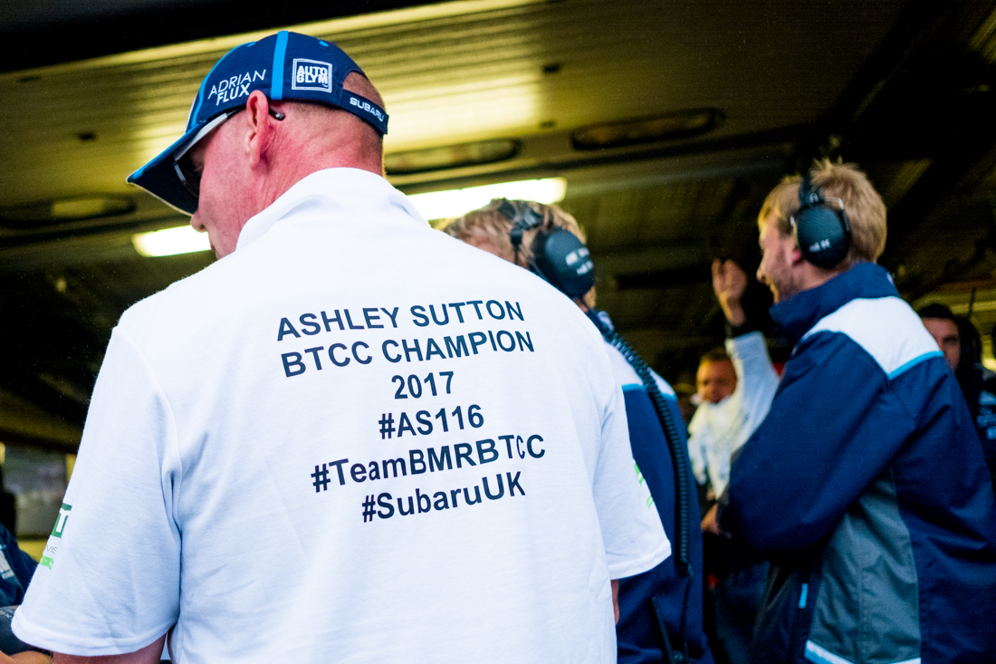 Ash Sutton's father Warren Sutton after his Son won the Championship at Brands Hatch in 2017