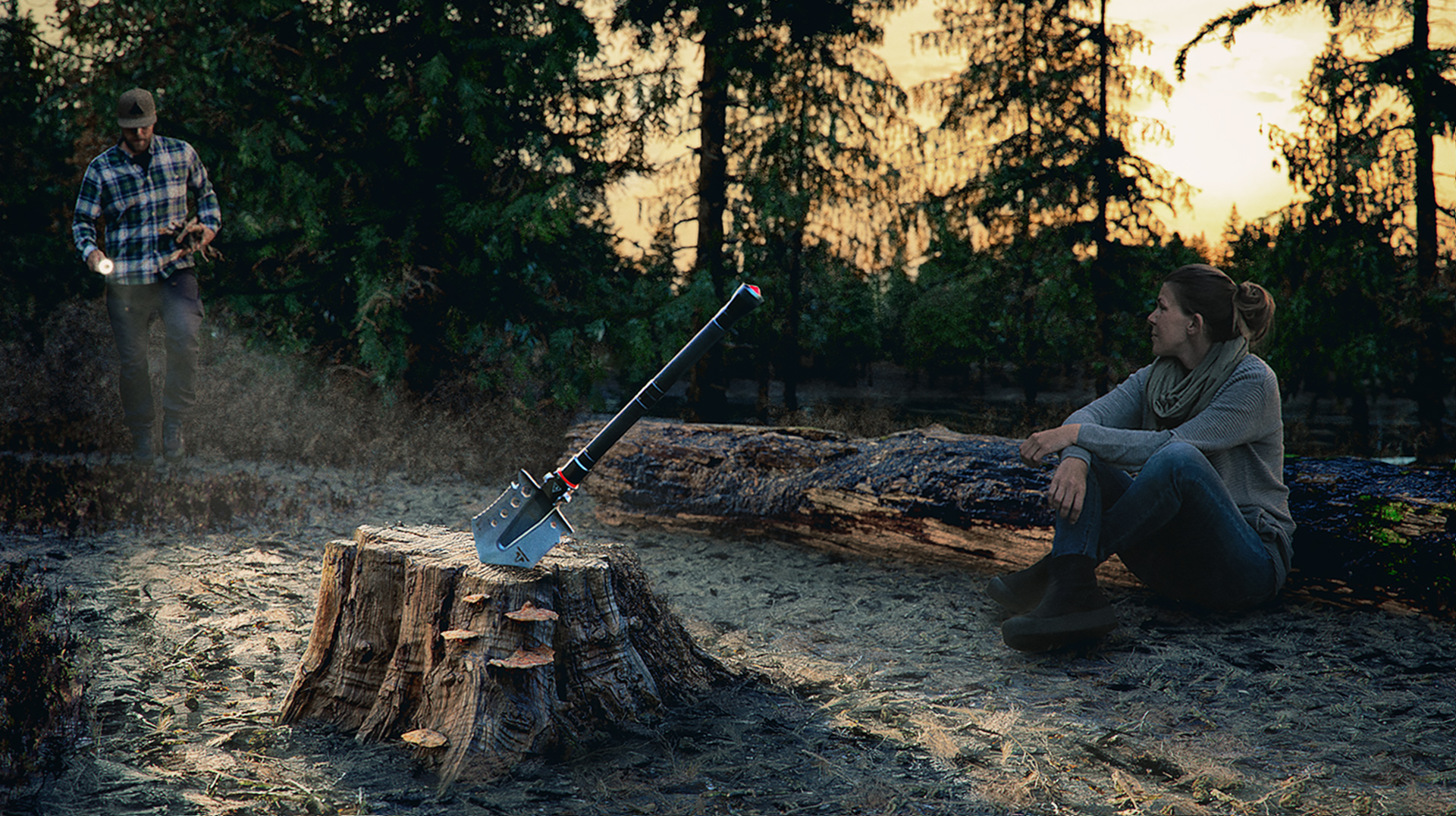 Matte paint CGI photoreal Campfire by the lake Njord Studio.jpg