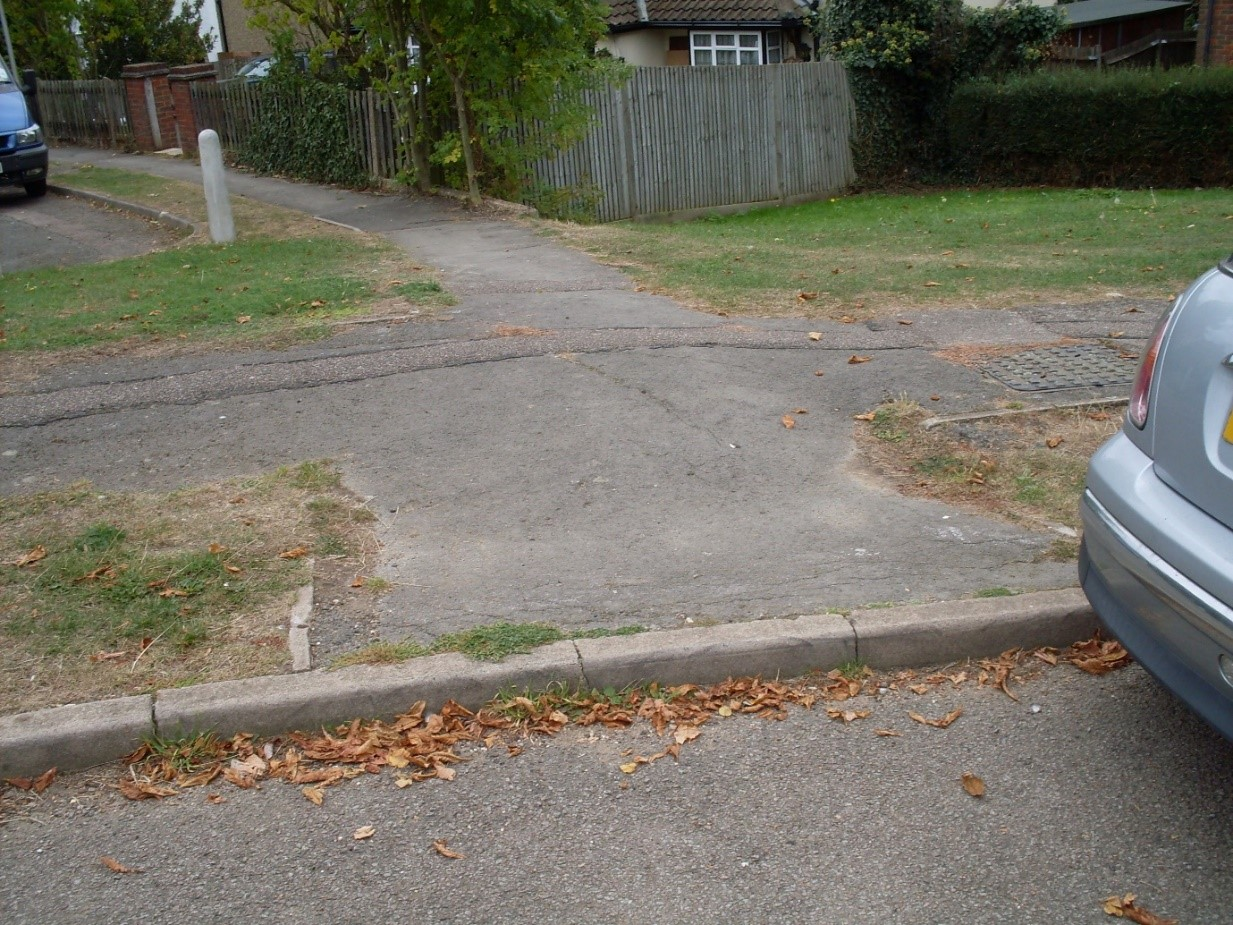Shrink-swell movement resulting in uneven movements and cracking of pavement