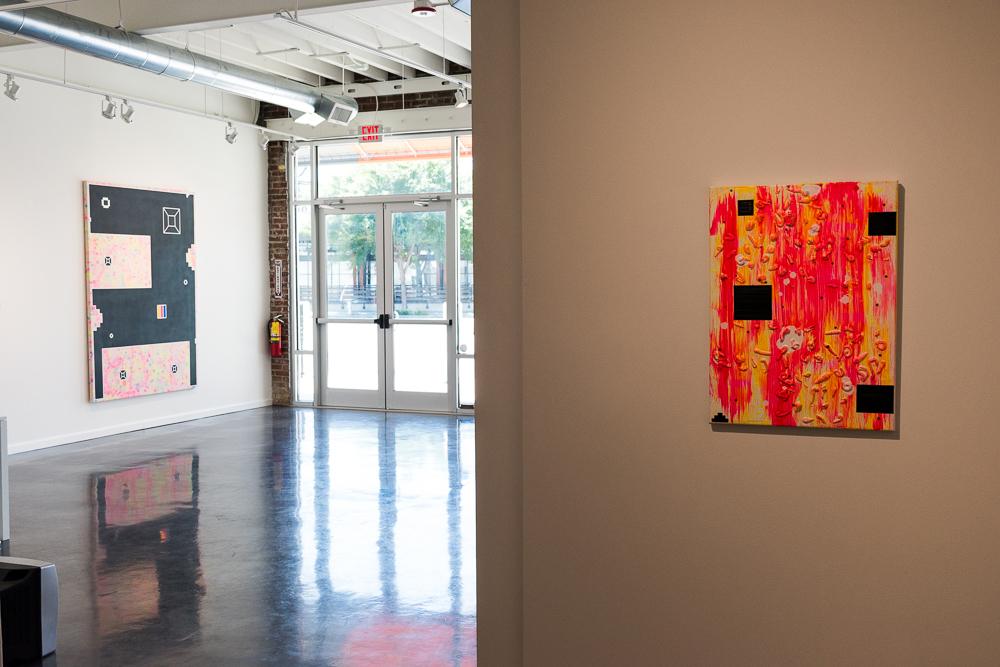 Killskreen 1.205, and Killskreen 1.137, (installation Shot, Hathaway Gallery, 2019)