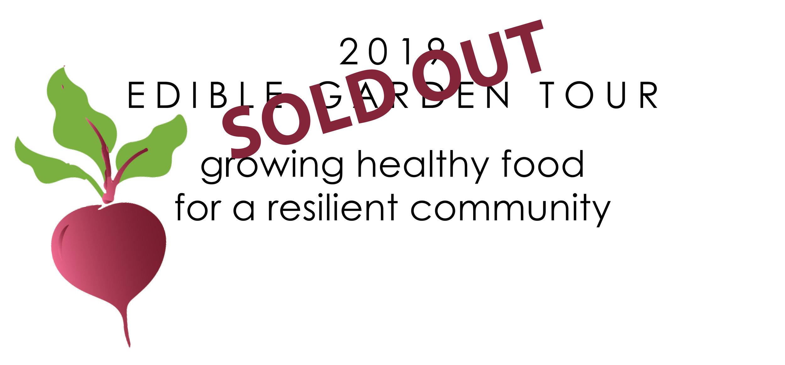 Edible Garden Tour Sold out logo