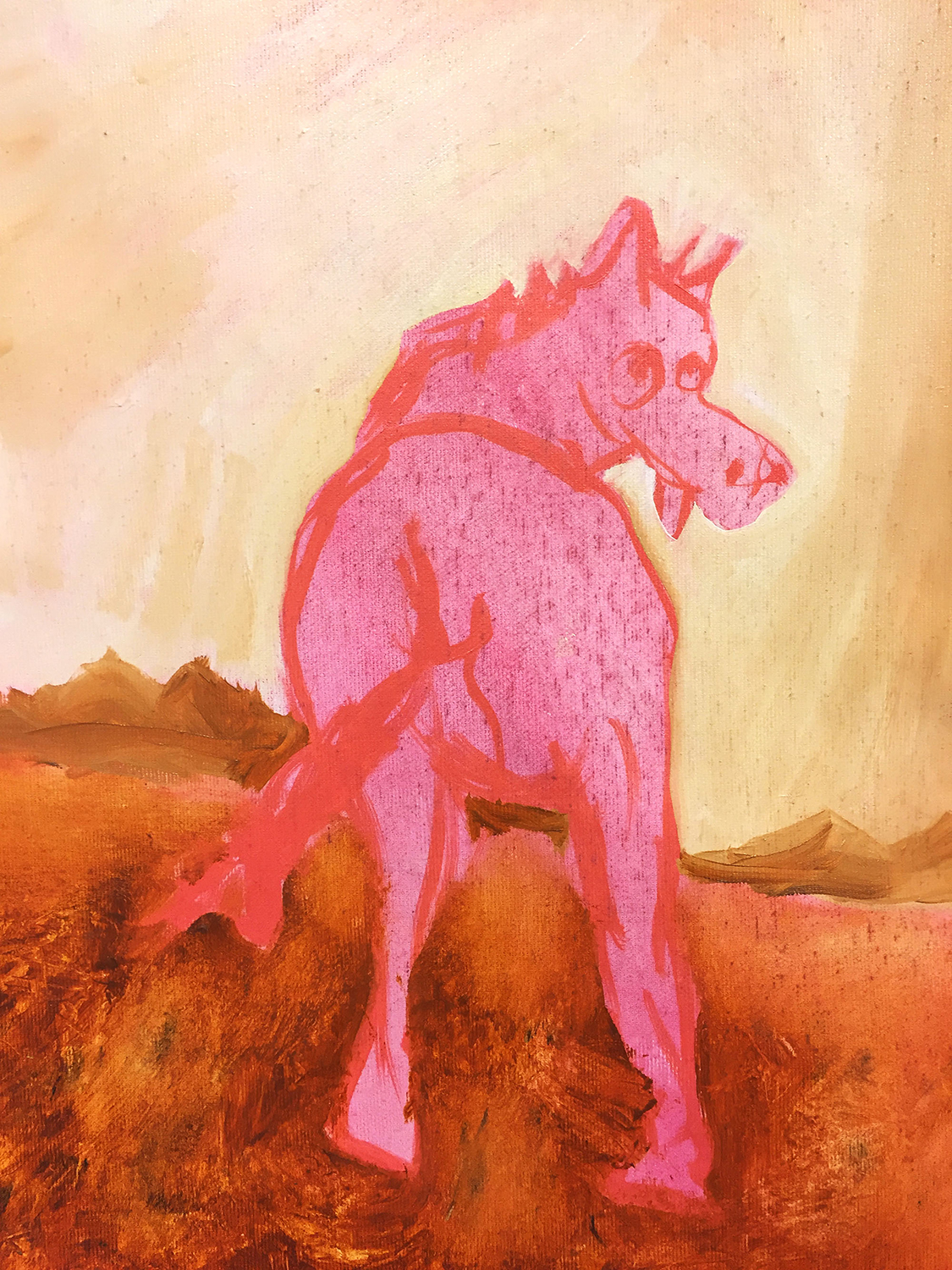 Pink Horse, 2017. Oil on canvas, 9x13 Inches.