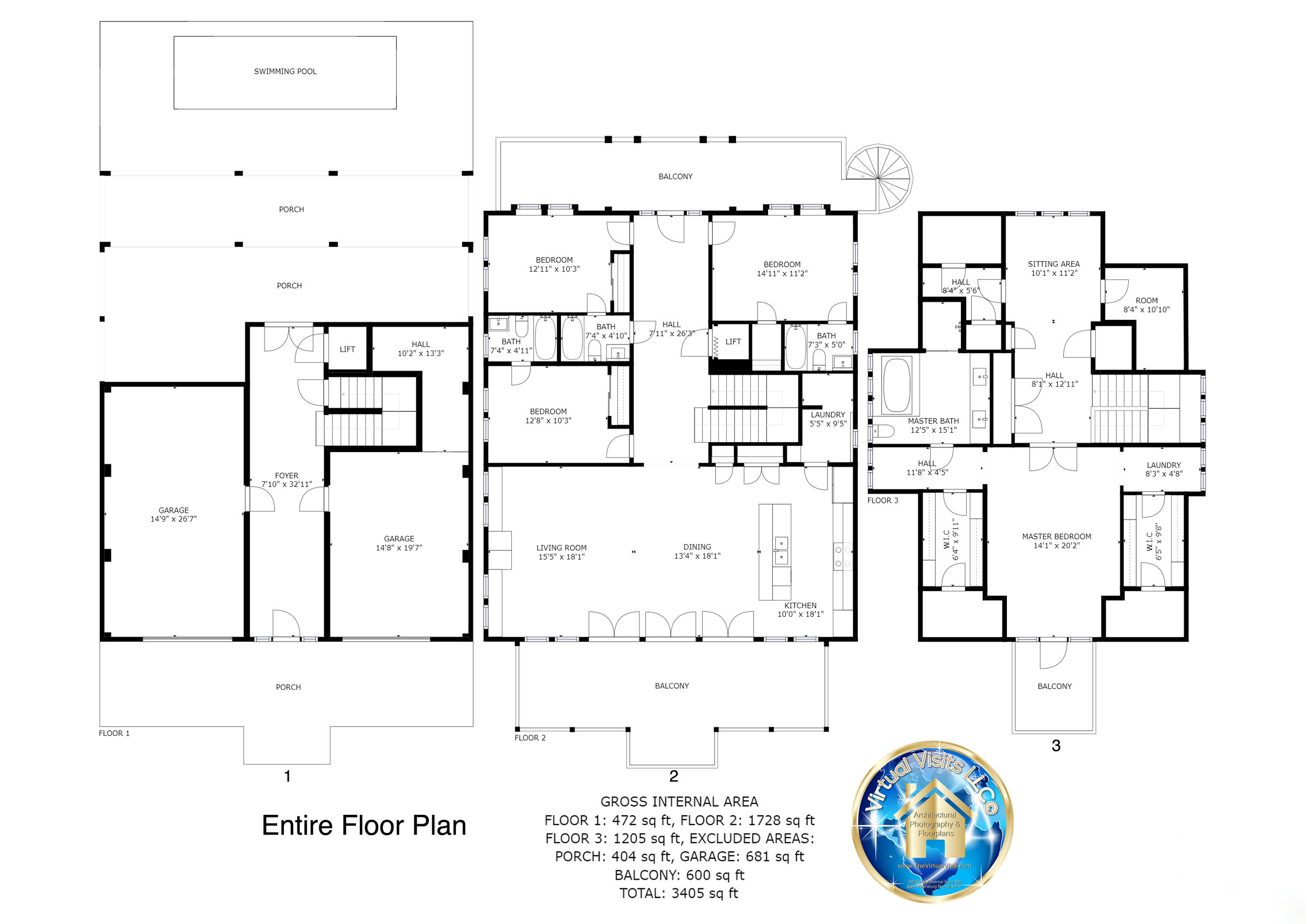 Virtual Visits, LLC©  2-D Floor Plans