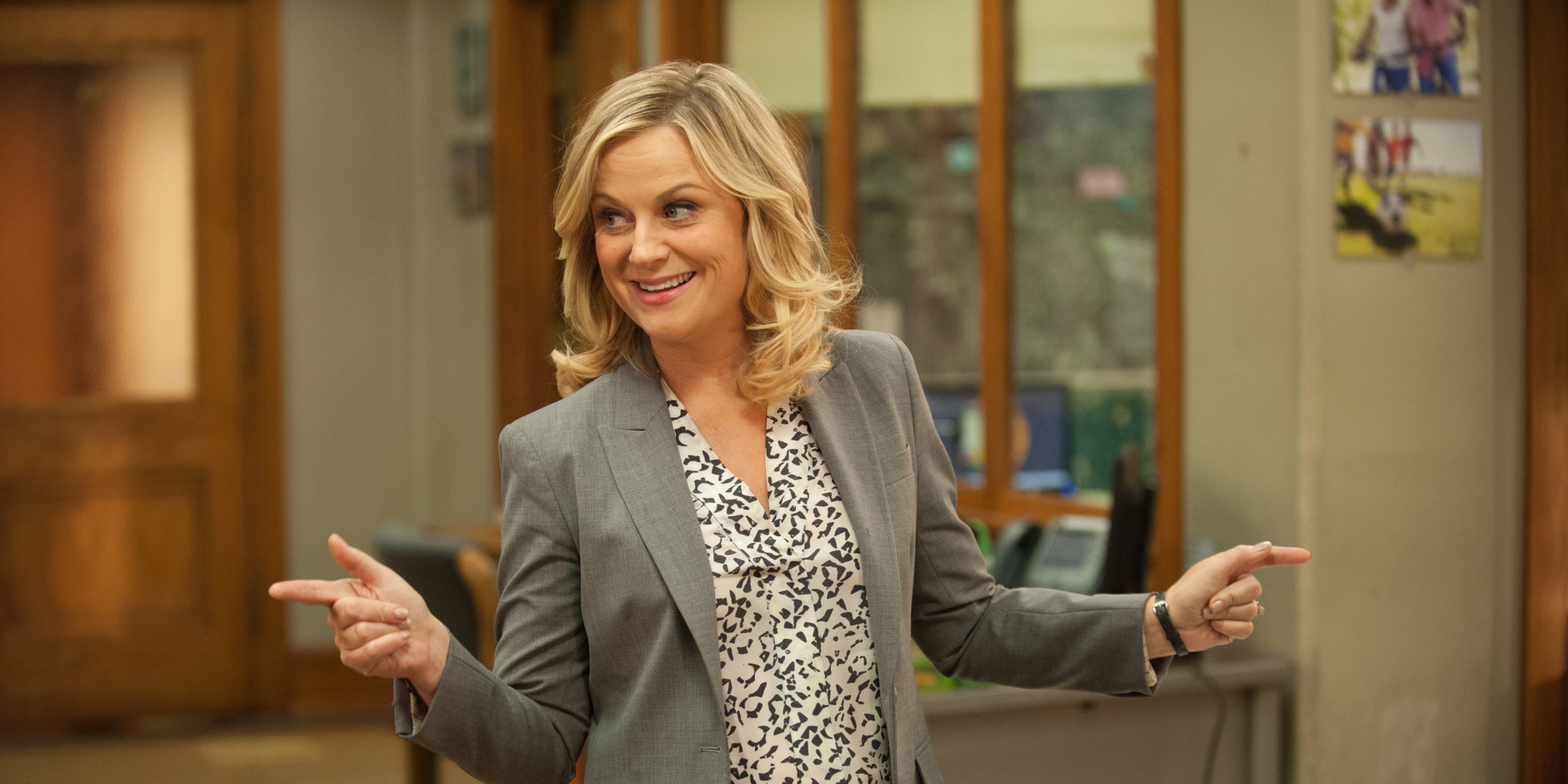 Our girl, Leslie Knope.