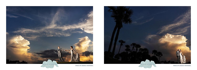 Hammock Dunes Club Wedding Sunset Photos of Bride and Groom