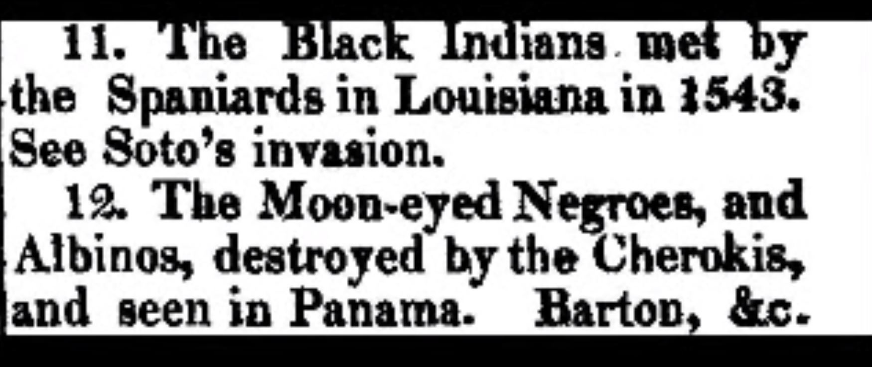 The Black Indians met by the Spaniards in Louisiana in 1543