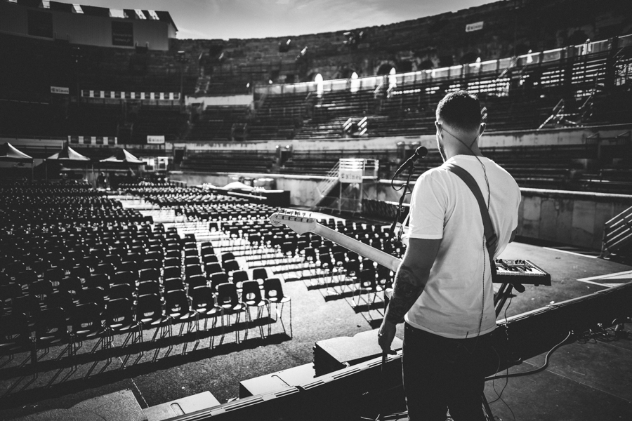 Ásgeir soundchecking in Nimes, France.
