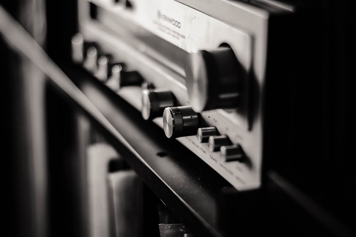 My 1974 Kenwood amplifier. It still works beautifully.