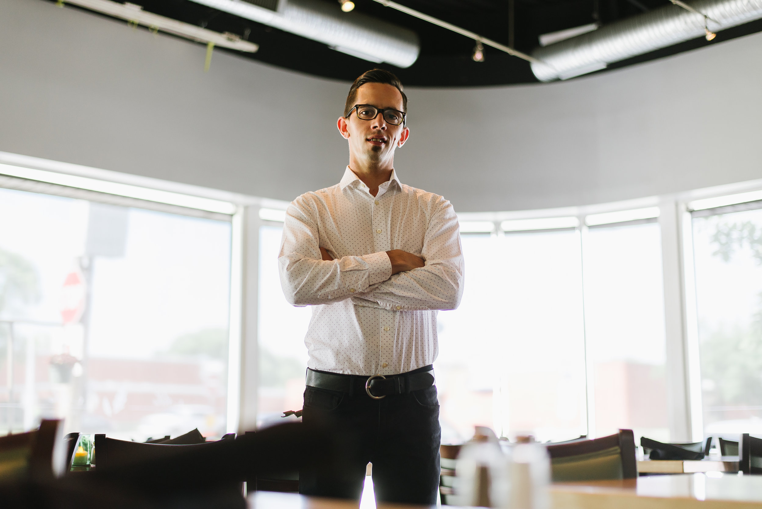 Garrett Dotsch, General Manager of Alba Restaurant in Des Moines, IA