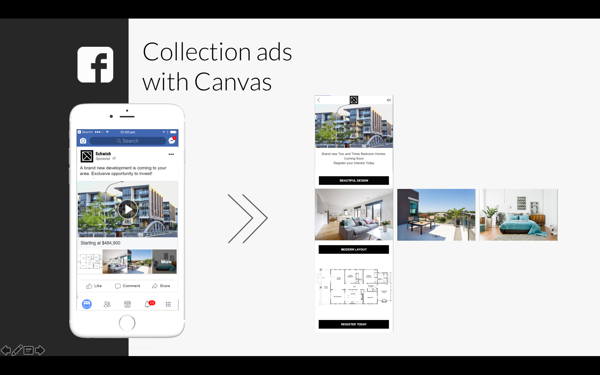 Facebook adds - Single and canvas