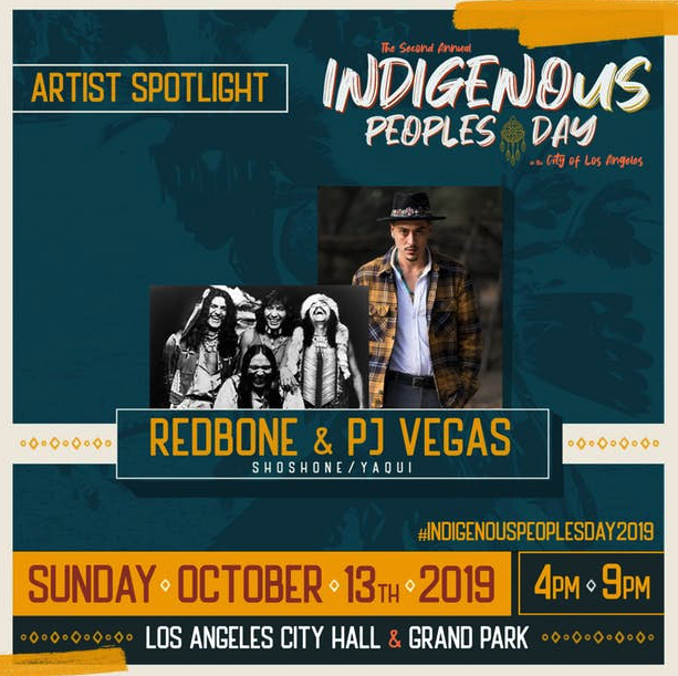 Redbone and PJ Vegas play at Indigenous People's Day 2019