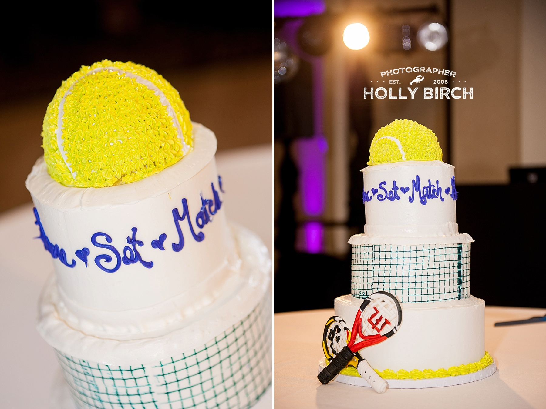 tennis theme wedding cake