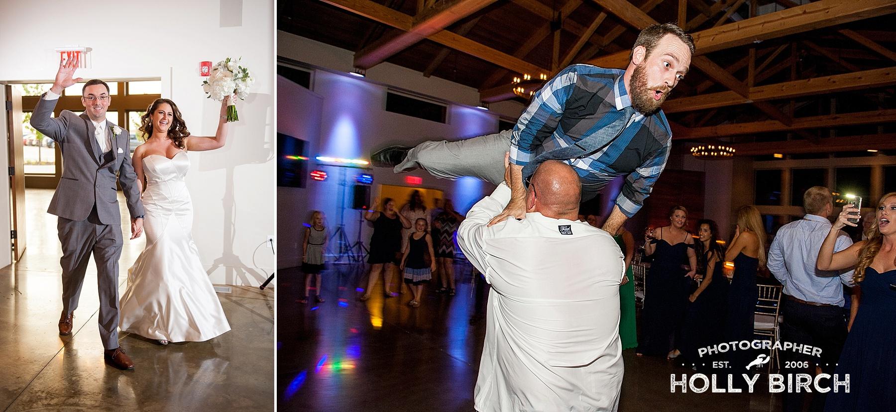 wedding reception off-camera flash