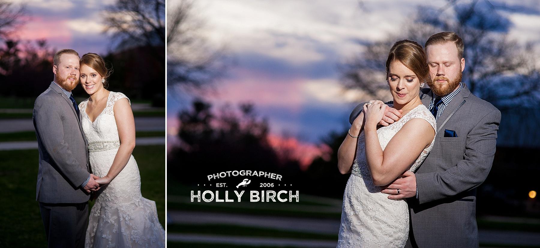 classic winter sunset at iHotel wedding