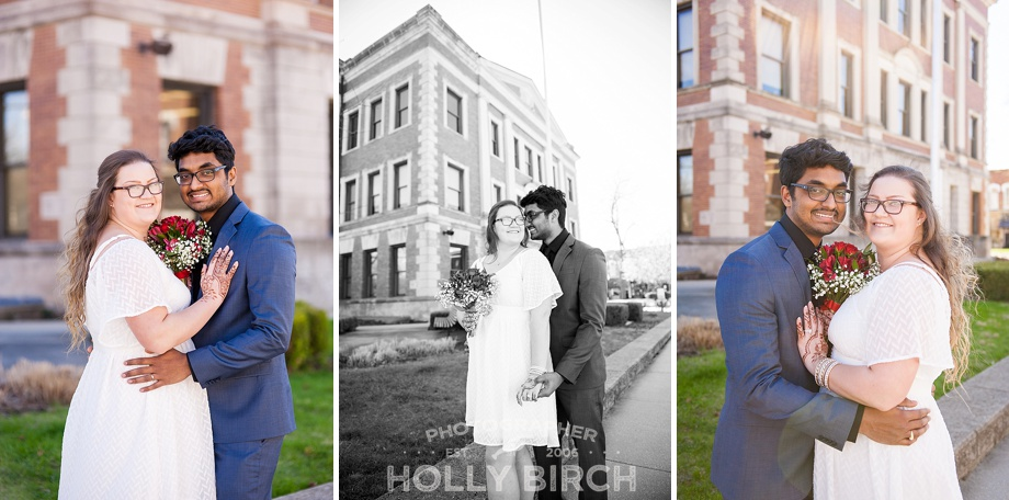 central IL courthouse wedding photography