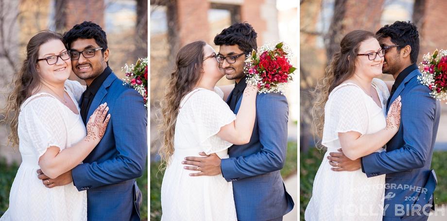 filmstrip wedding photos