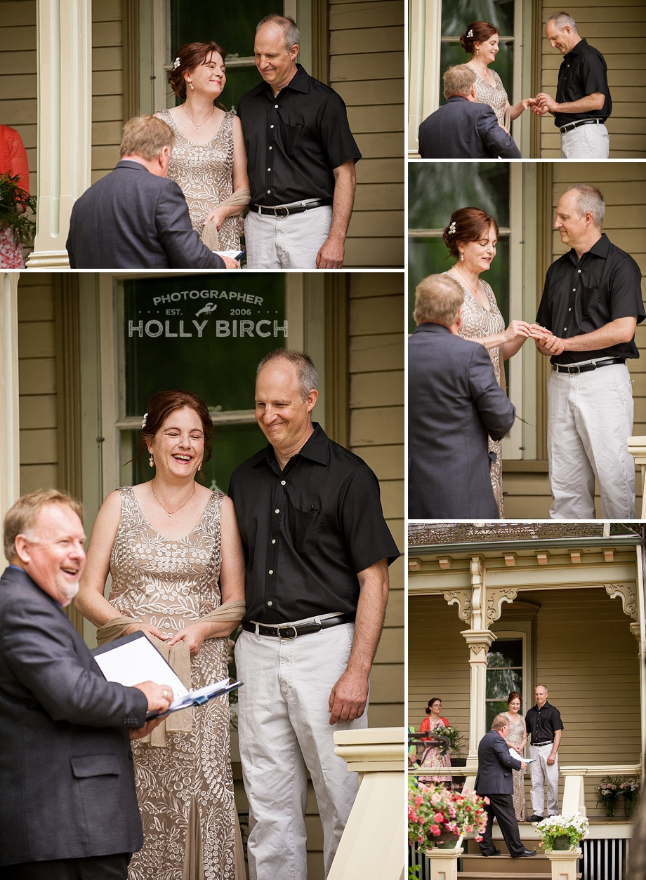 saying vows and exchanging rings