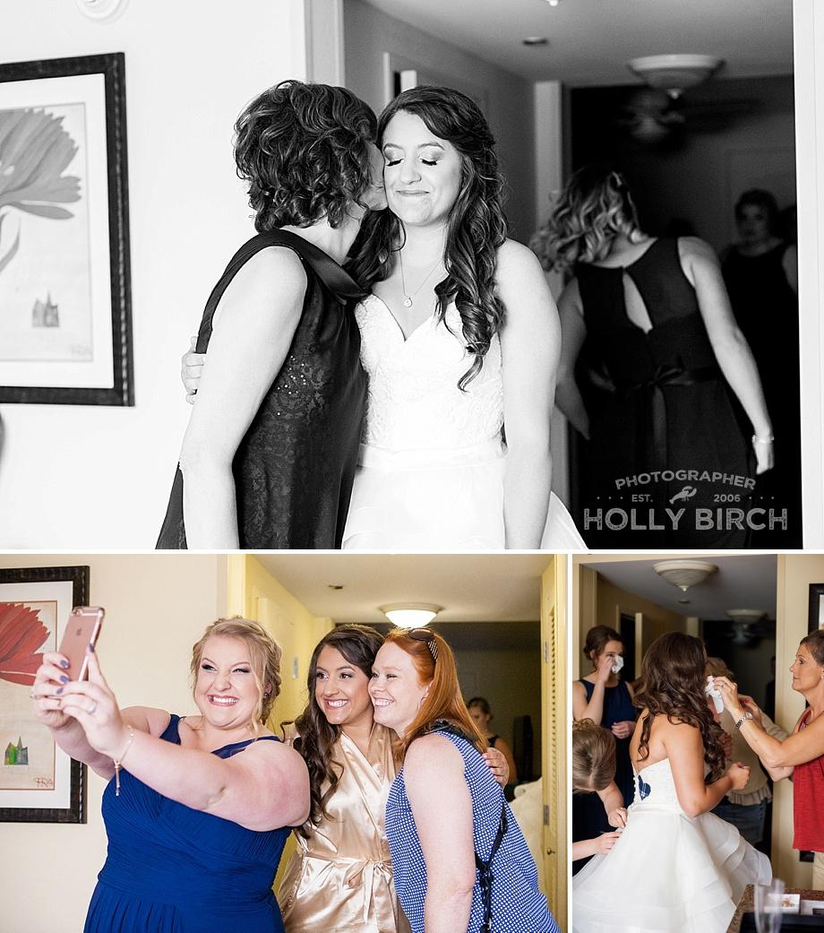 tearful emotional bride getting ready for wedding