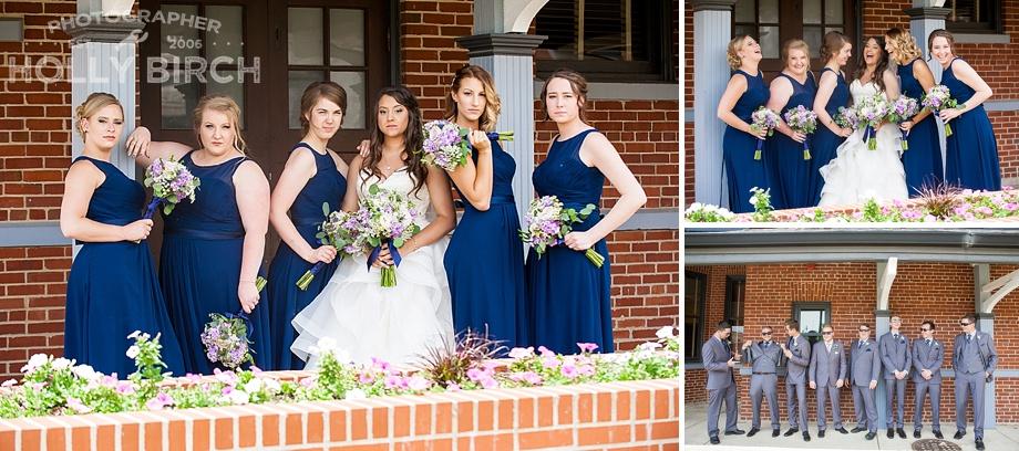 modern groomsmen bridesmaid portraits