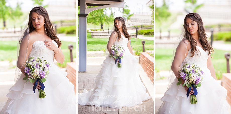 glamourous bride in Allure bridal gown