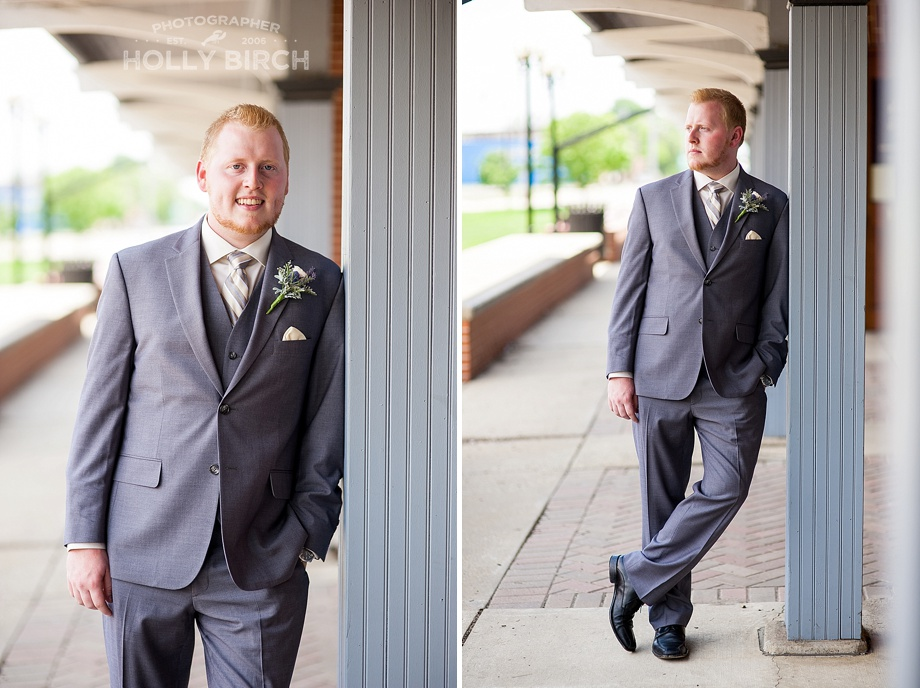 handsome groom standing poses