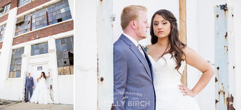 fierce bride at abandoned warehouse