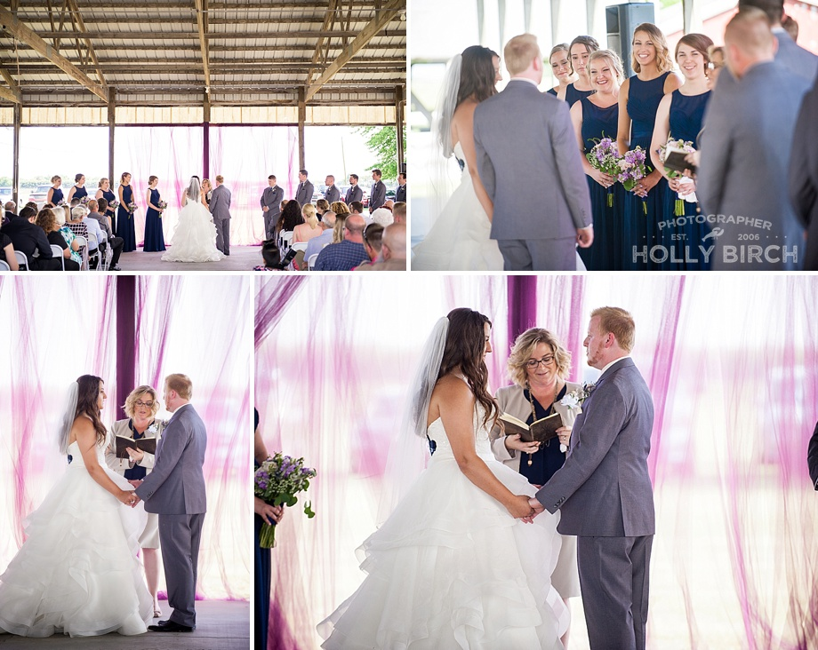 wedding ceremony at Kankakee County Fairgrounds