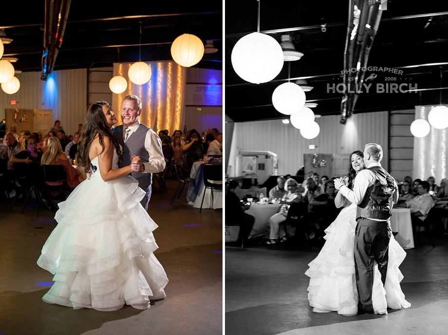 beautifully lit first dance photos