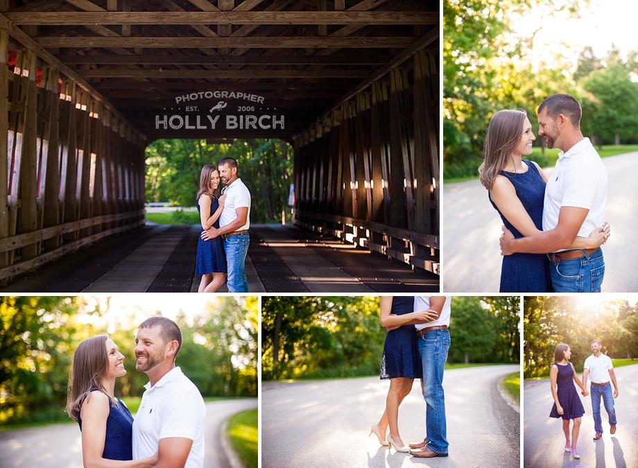 Covered bridge engagement photos