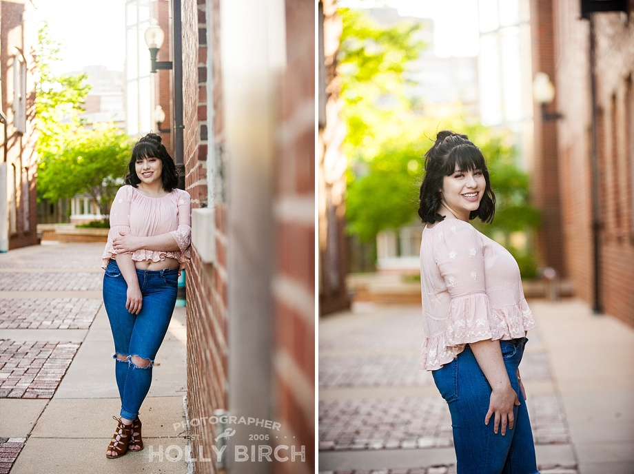 adorable senior girl standing poses