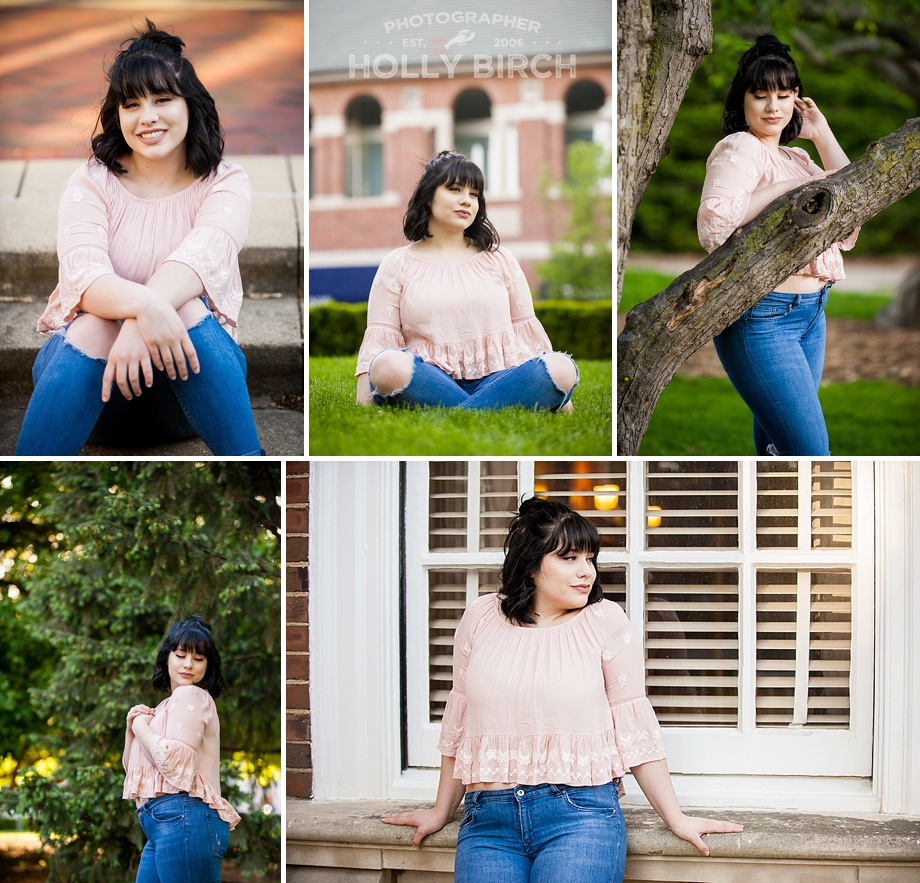 senior photo session on UI campus