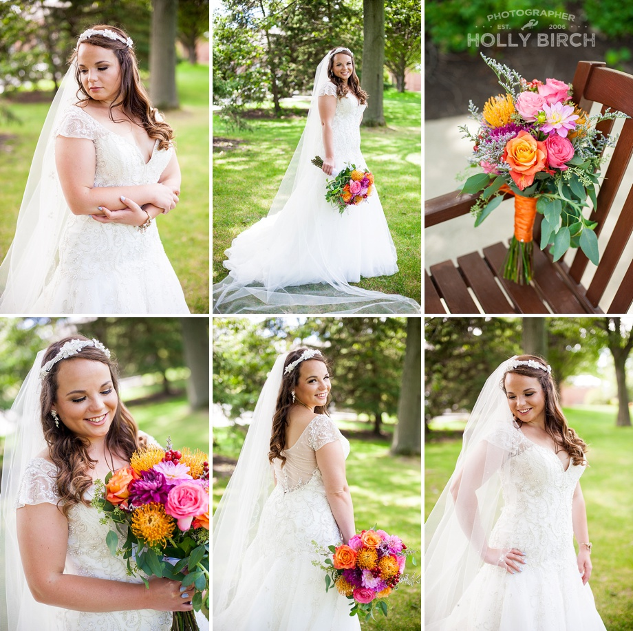 bridal pictures on golf course