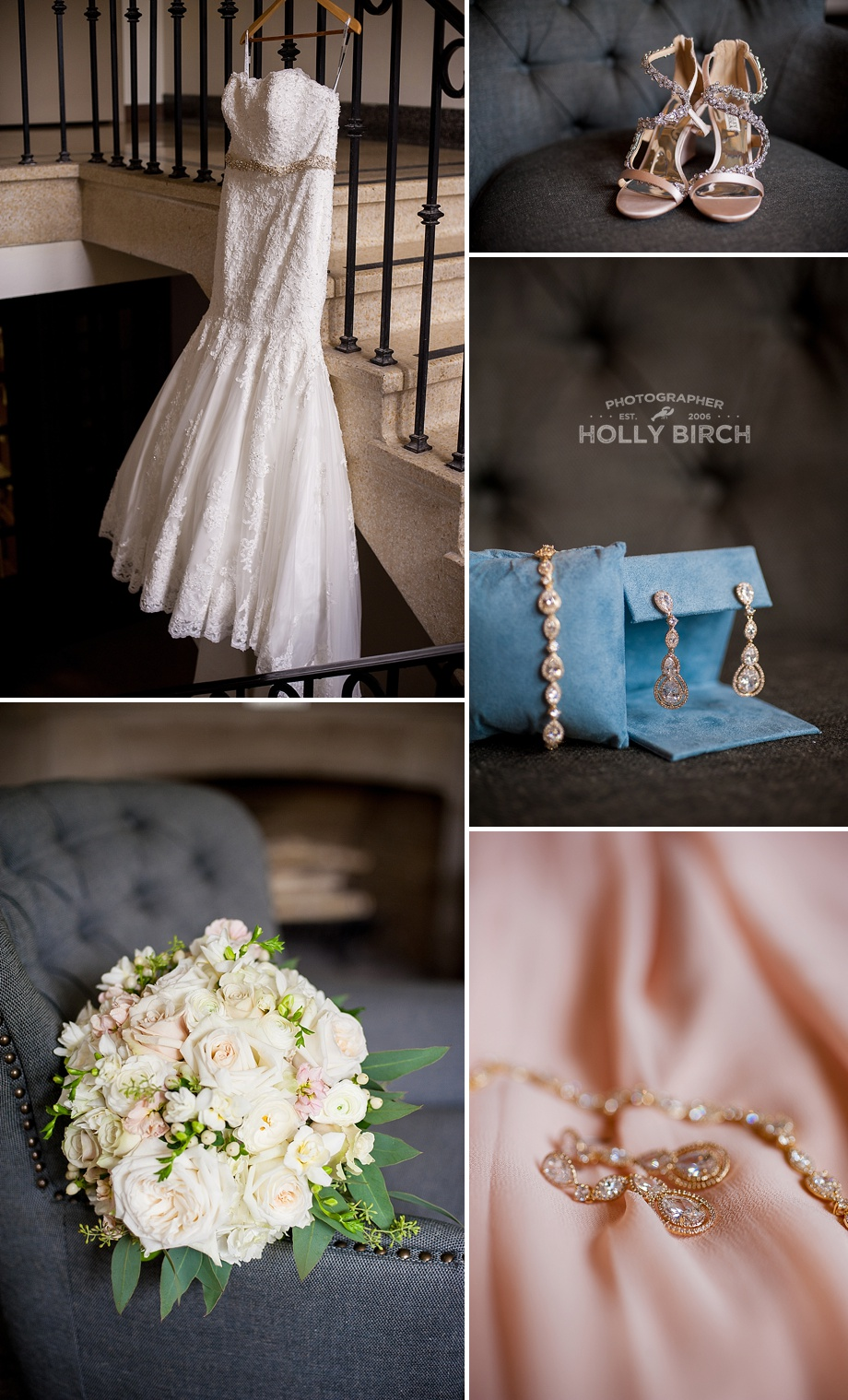 bridal accessories with bling details