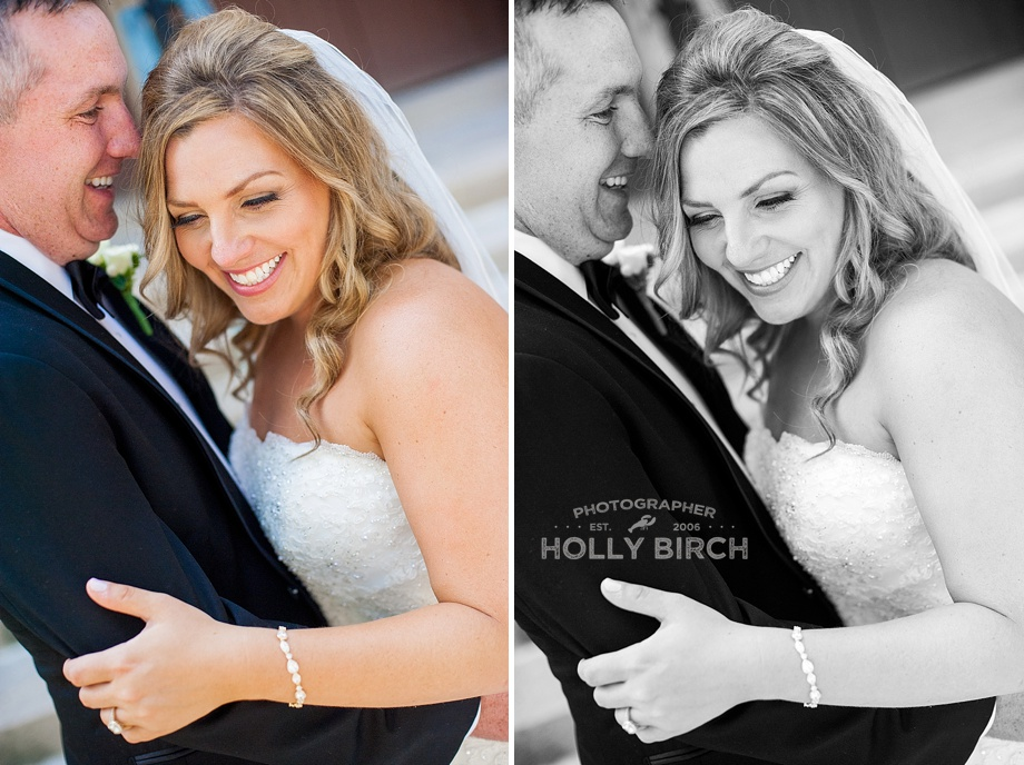color vs black and with wedding photos