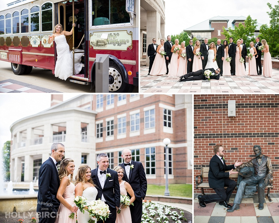 candid wedding trolley photos