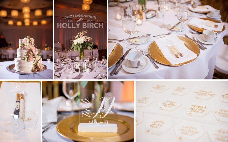 blush pink gold wedding reception
