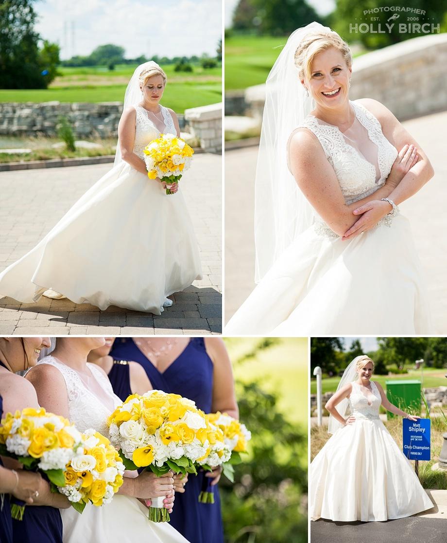 bridal portraits with high sun