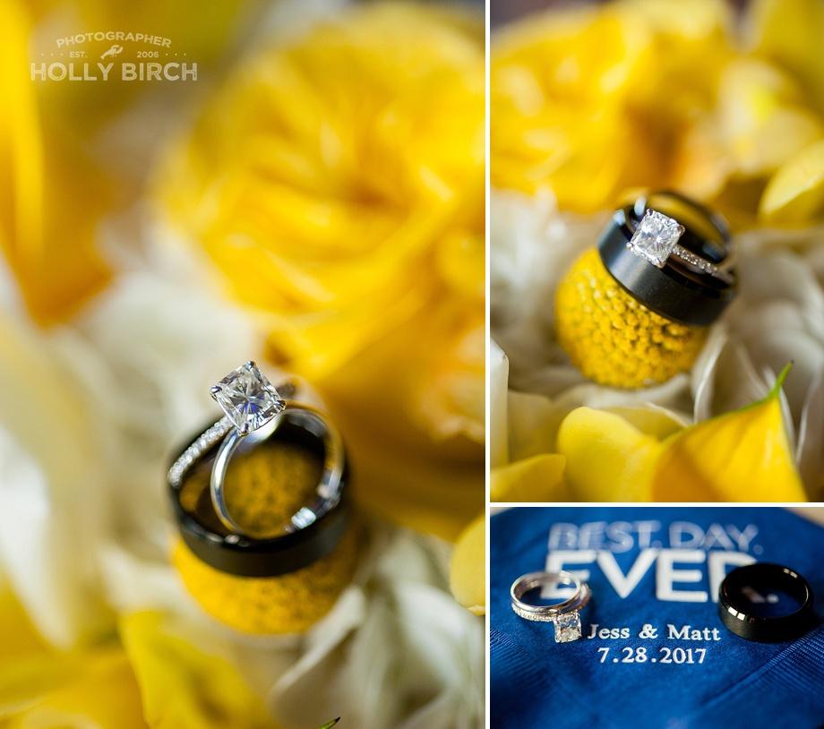 yellow navy wedding ring photos