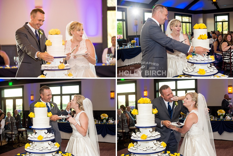 fantastic expressions while cutting the cake