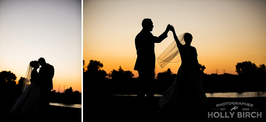 sunset silhouette photos at Mistwood in Romeoville
