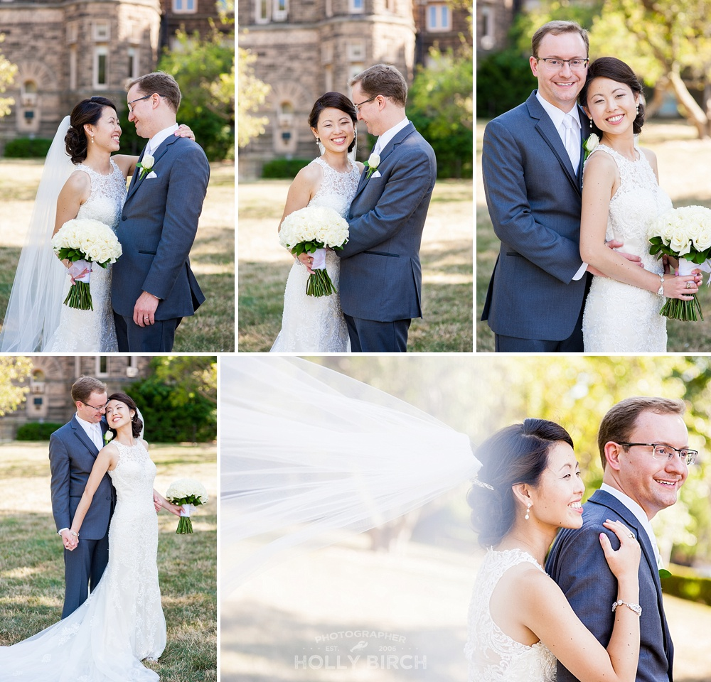 lovely wedding portraits at University of Illinois at Urbana-Champaign