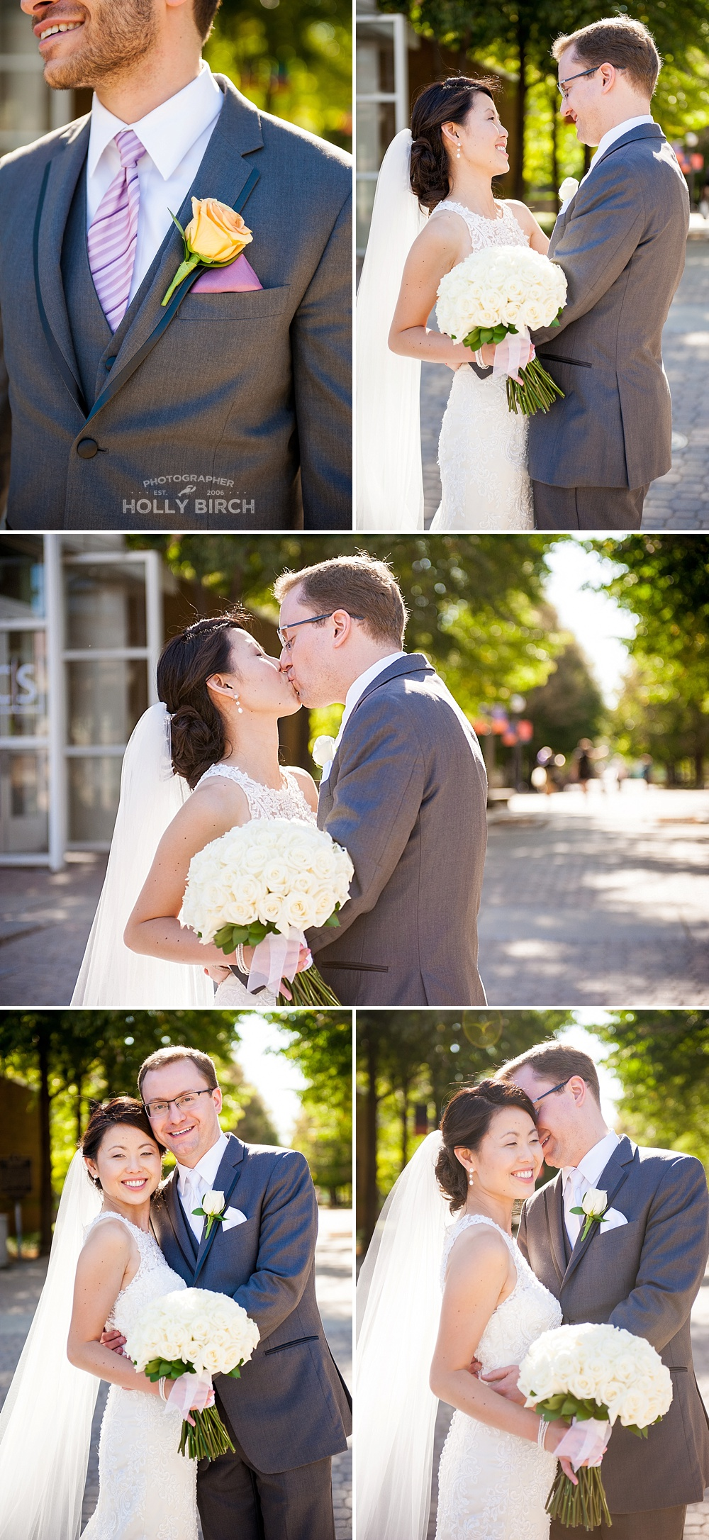 backlit photos of bride and groom