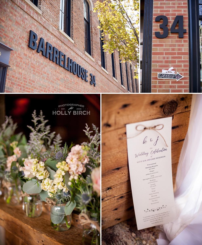 Barrelhouse 34 wedding ceremony