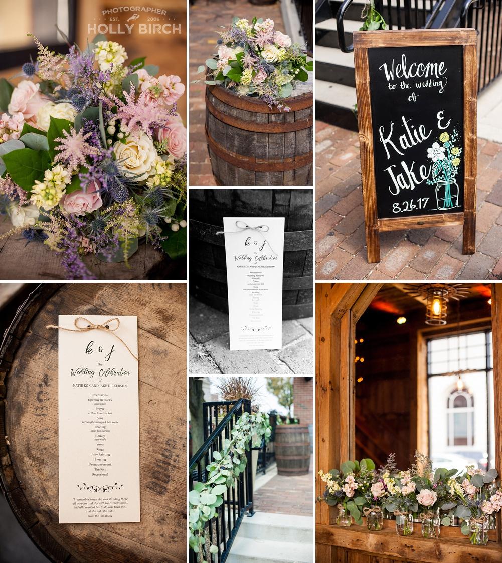 soft floral wedding details from Blossom Basket