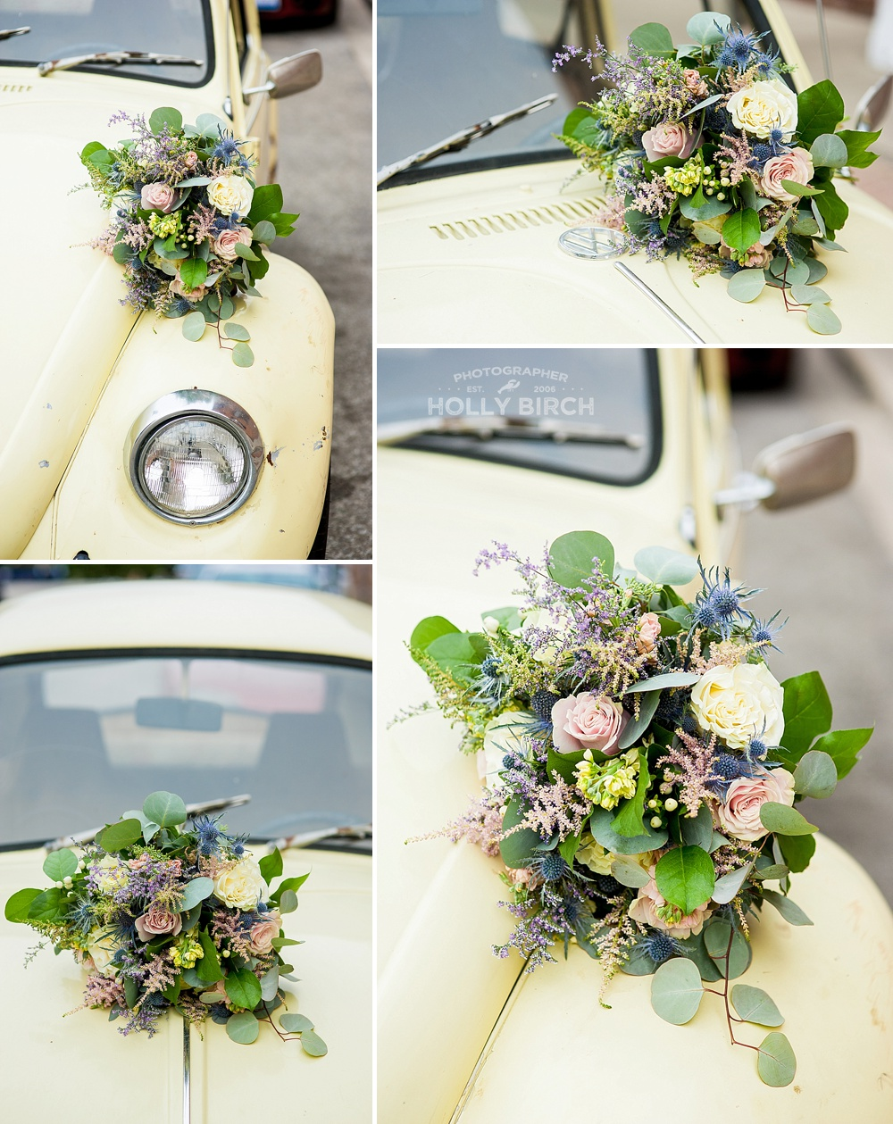pale yellow pastel wedding bouquet