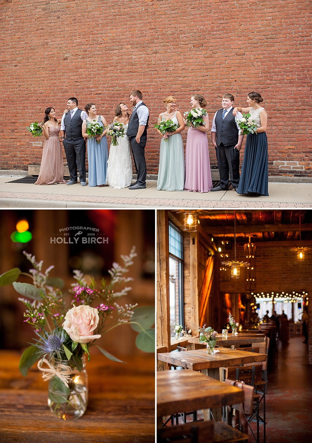 pastel and gray wedding party