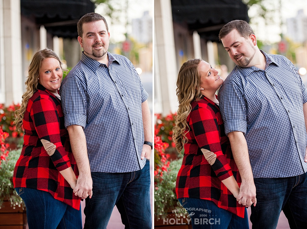fall photo engagement session with boots